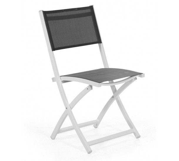 Brafab - Leone Havestol - Hvid - Klapstol i hvid aluminium