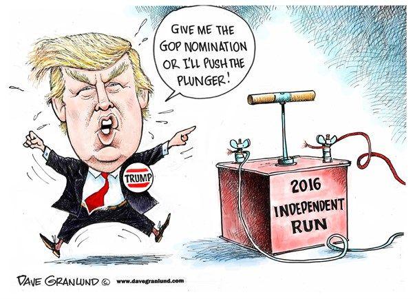 Trump and 2016 independent run © Dave Granlund,Politicalcartoons.com ...