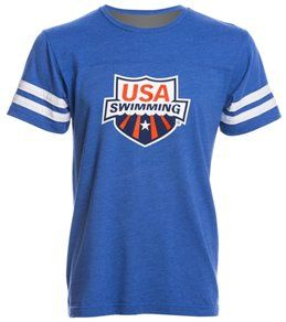 USA Swimming Unisex Swimmer Jersey T-Shirt at SwimOutlet.com