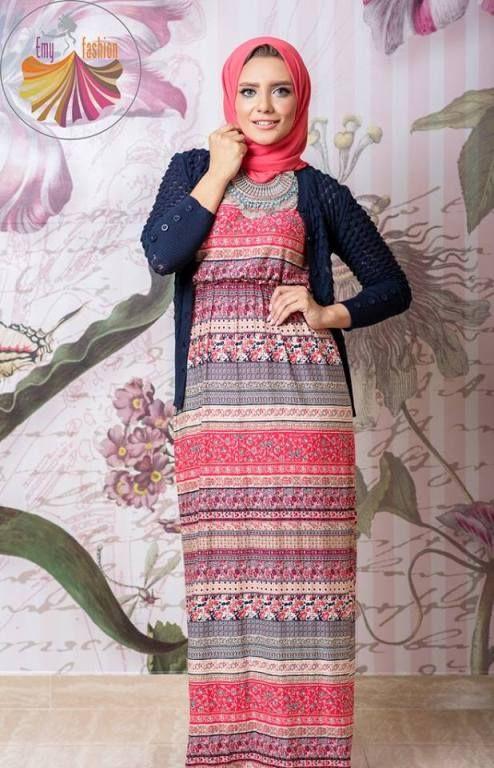 Bohemian hijab dress Long kimono hijab by Emy fashion http//www.justtrendygirls.com/long ...
