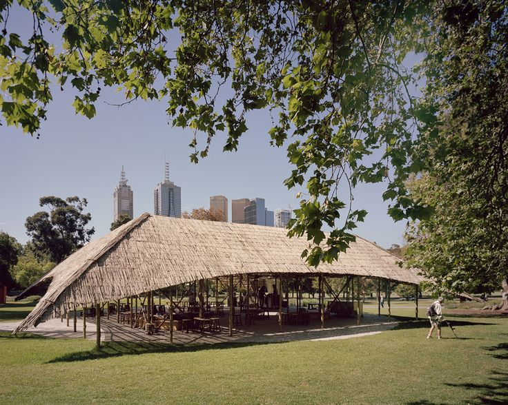 MPavilion has released a series of photographs by London-based photographer Rory Gardiner of Bijoy Jain's summer pavilion in Melbourne's Queen Victoria Gardens. The photographs catpure the pavilion in its setting as well as the details of the handmade bamboo structure.  (Photo: © Rory Gardiner)