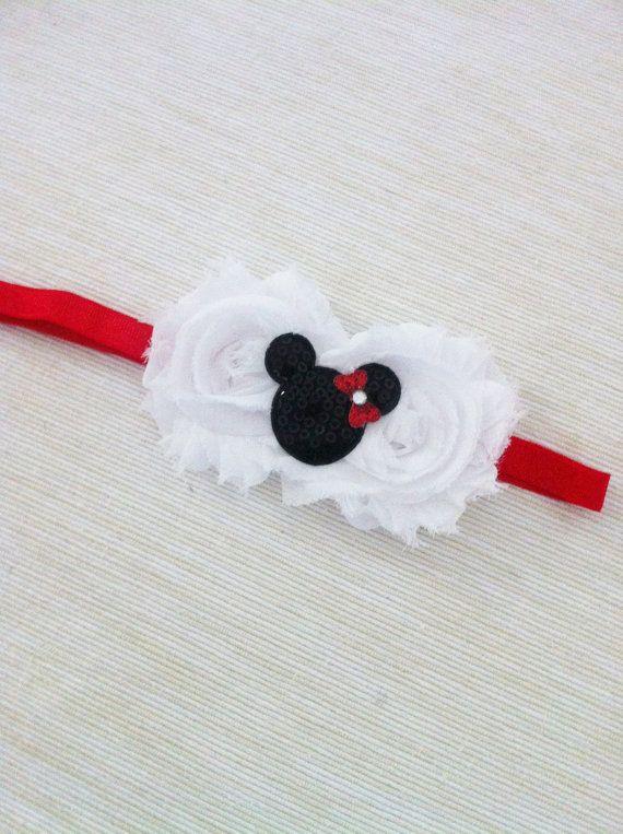 Baby Girl- Girl Headband- Mini Mouse- Red Bow – Headband For Girls