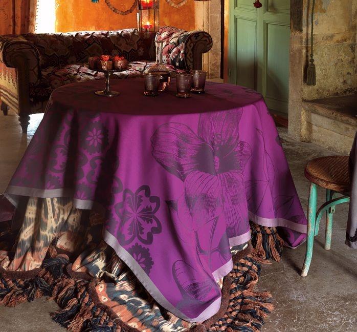 Beautiful table toppers. Gorgeous colors. Le Jacquard Francais