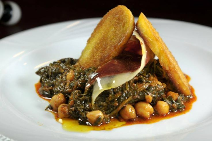 Spinach with chickpeas Espinacas con garbanzos Taberna Manjarex ...