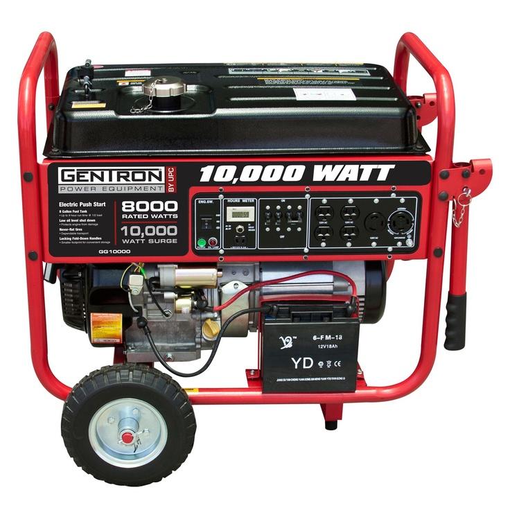 Gentron 8 000w 10 000w Portable Gas Powered Generator