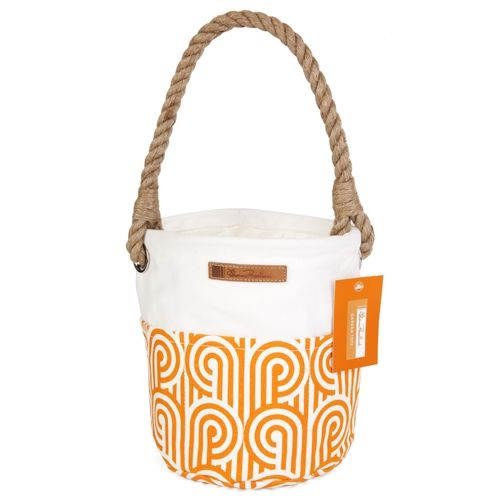 Florence Broadhurst Gardening Tote in Orange with Classic Turnabout Print