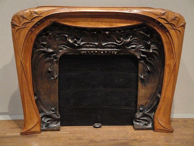 Fireplace Art Nouveau   Flickr - Photo Sharing!