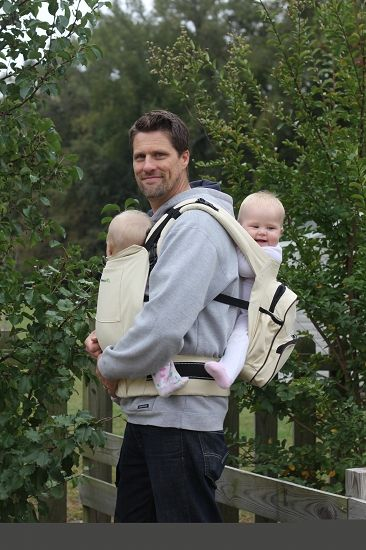 Twingaroo Ergonomic Twin Baby Carrier and Diaper Bag @estevens1978 this is you in a few months!!!