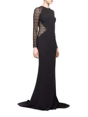 STELLA MCCARTNEY Lace Inset Gown. #stellamccartney #cloth #gown