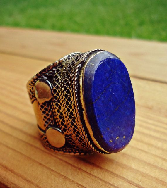 Hey, I found this really awesome Etsy listing at https://www.etsy.com/listing/243149443/lapis-ring-lapis-lazuli-ring-afghan