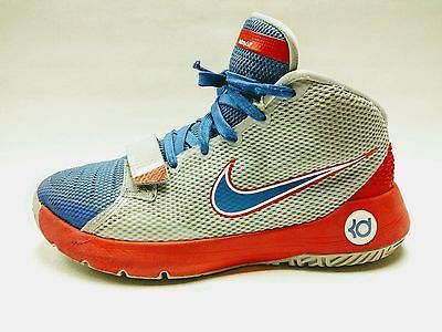 Nike KD Trey 5 III Kevin Durant Boy's Youth Basketball Shoes size 6.5Y Red Blue
