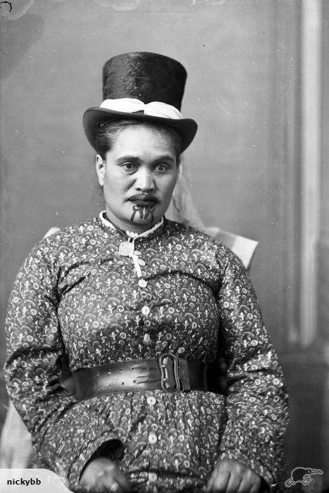 IMPRESSIVE MAORI LADY WITH MOKO c 1885 | Trade Me