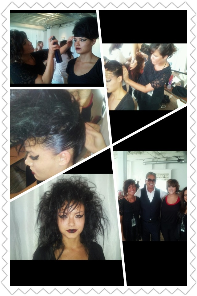 Me at an Oribe event doing model. And yes that's Oribe himself next to me ;)