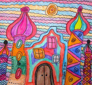 These fun and colorful villages are inspired by the work of Austrian architect and artist Friedensreich Hundertwasser.