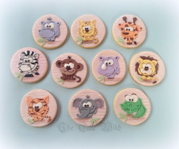 African Animals Decorated Biscuits/ Cookies