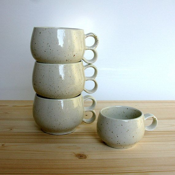 Coffee Mugs Pentik Finland Set Of 4 Stoneware Etsy Mugs Stoneware Ceramics Ceramic Mugs