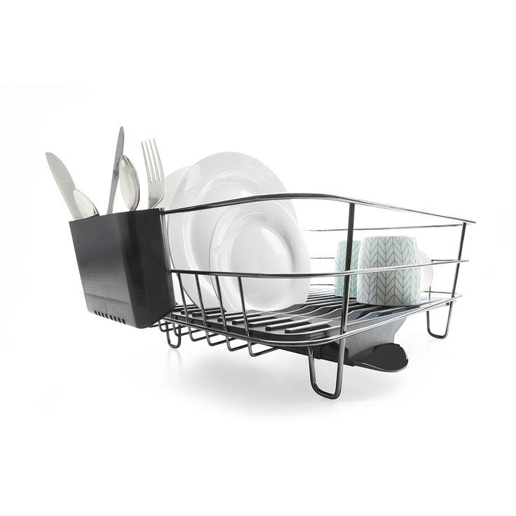 Large Chrome Dish Rack - Black | Kmart