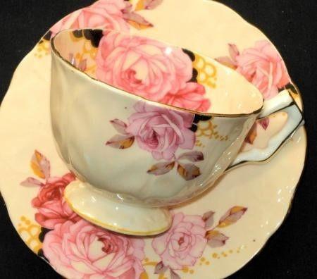 ٠•●●♥♥❤ஜ۩۞۩ஜஜ۩۞۩ஜ❤♥♥●   Aynsley ELITE PINK ROSE Roses  Tea cup and saucer Teacup  ٠•●●♥♥❤ஜ۩۞۩ஜஜ۩۞۩ஜ❤♥♥●