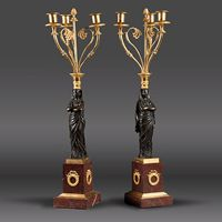 Louer luminaires candélabre - Soubrier Antiquités et Décoration - Location luminaires candélabre