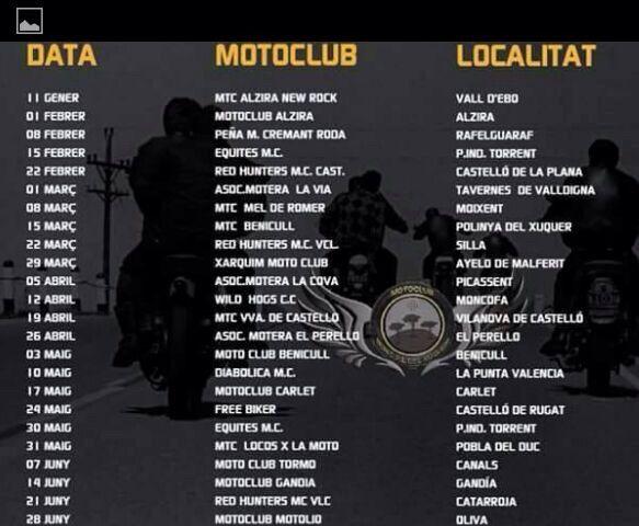 Matinal Motera Calendario 2015