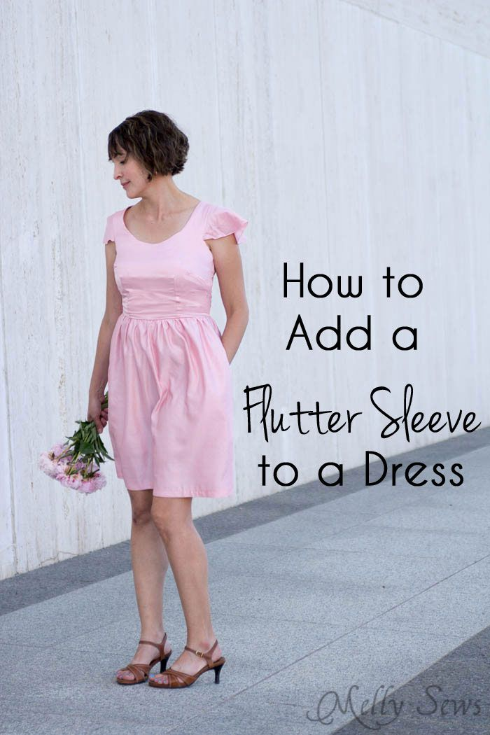 How to add a sleeve to a dress - it's simple to add a flutter sleeve with this DIY sewing tutorial by Melly Sews