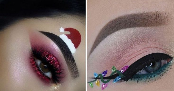 From snow queen looks to fairy light wings, here are 19 festive-themed eye makeup looks to inspire you to go all out this December.