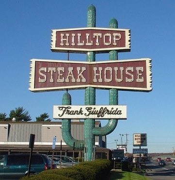 Hilltop Steakhouse (Saugus, MA) A beloved landmark about halfway between my hometown (Rockland MA) & my mother's & grandmother's hometown (Haverhill MA) which became my secondary home town in adulthood.