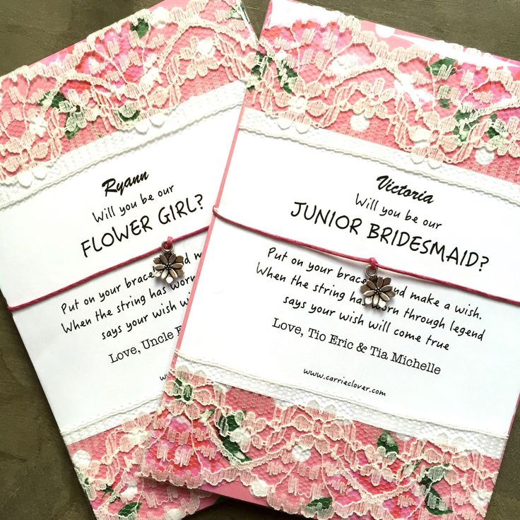 do i send wedding invitations to bridesmaids%0A Will you be my flower girl