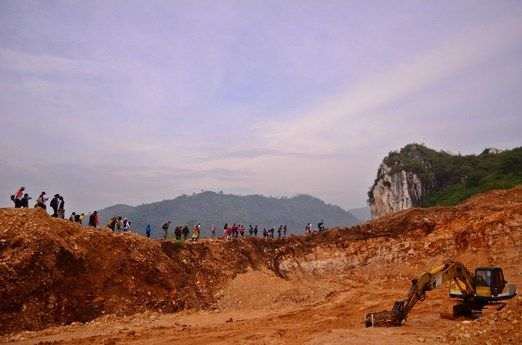 Limestone: The natural arch in Karang Hawu was formed by limestone. The formation is called the karstification process, ...