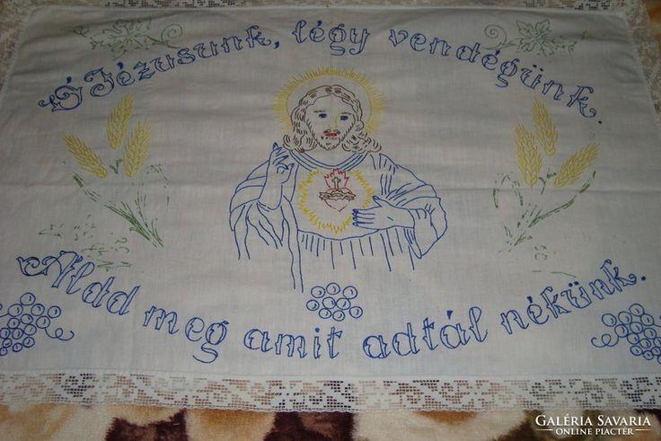 Falvédő - Ó Jézusunk légy vendégünk, áldd meg amit adtál...