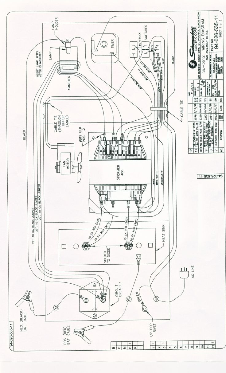 schumacher battery charger wiring diagram model