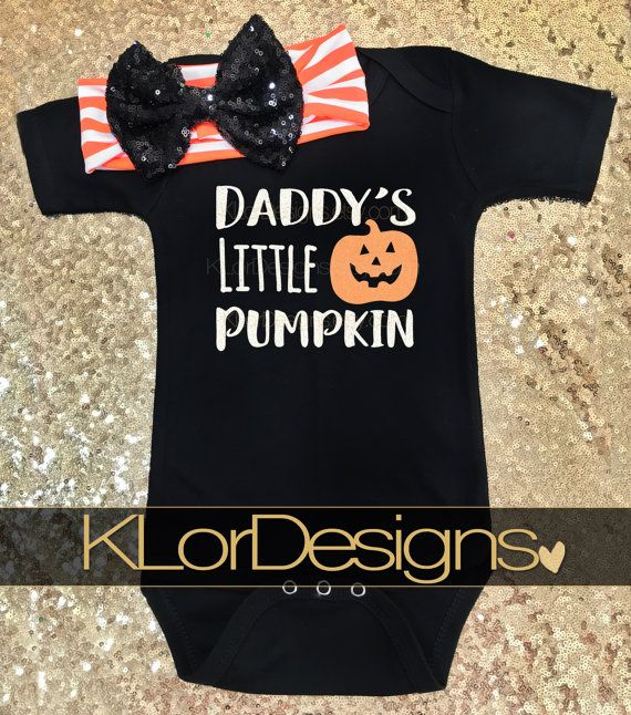 Check out this item in my Etsy shop https://www.etsy.com/listing/469716481/daddys-little-pumpkin-onesie-halloween
