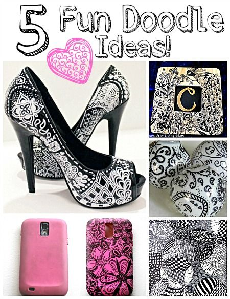 Pretty ideas - doodling with a pen!