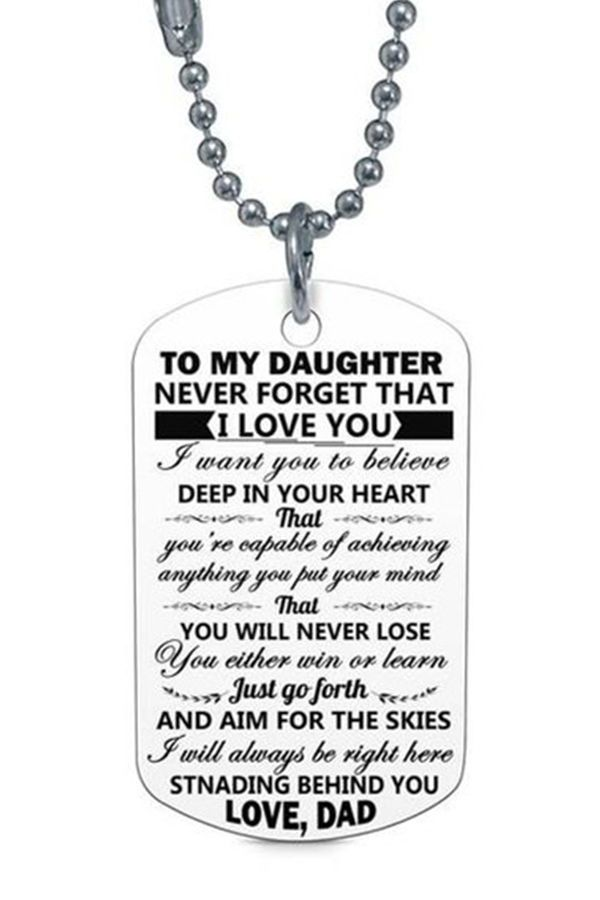 8f3366c6ee7 Beautiful To My Daughter Necklace From Dad - Best Gift for Birthday ...
