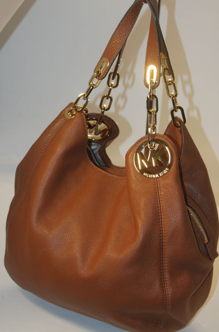 MICHAEL Michael Kors Fulton Large Shoulder Tote Luggage Leather