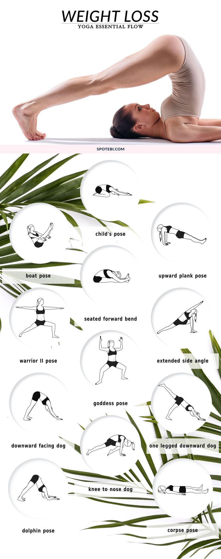 Try this 14-minute gentle yoga flow to increase your metabolism, strengthen the body and boost your calorie burn. These 12 easy and effective yoga poses for weight loss will help you tone your arms, flatten your belly, and slim down your legs! https://www.spotebi.com/yoga-sequences/weight-loss-flow/