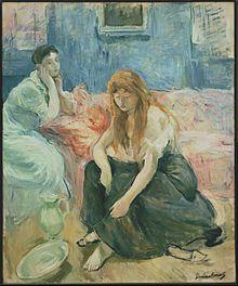 Deux jeunes filles par Berthe Morisot (1894)