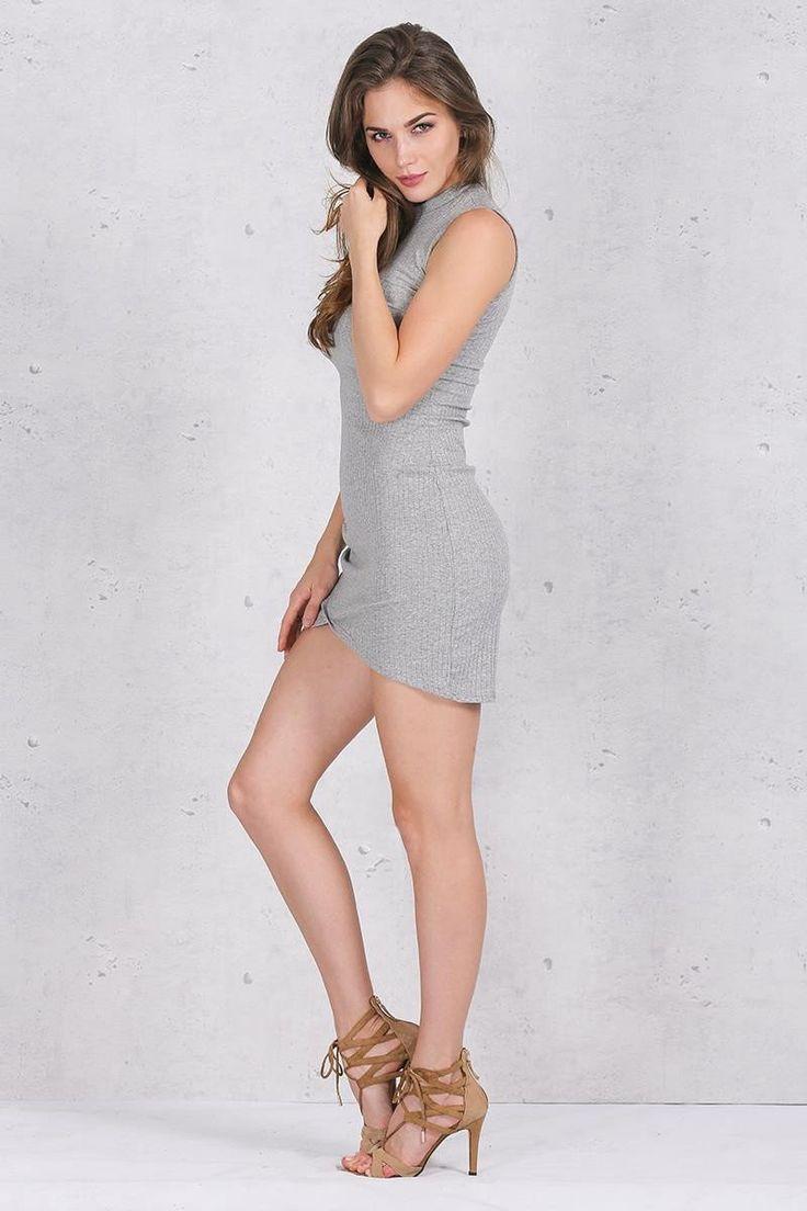 Sleeveless Knitted Casual Bodycon Dress Kim Kardashian Style