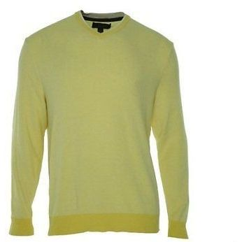 Tasso Elba Mens Butter Yellow Cotton V-Neck Sweater Large Basic ...