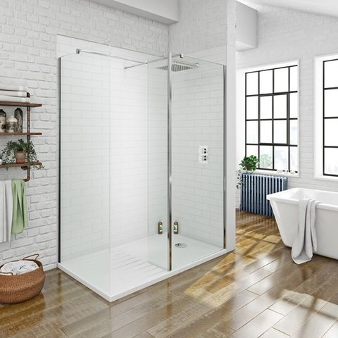 Amazing Luxury mm walk in shower enclosure pack with shower tray VictoriaPlum