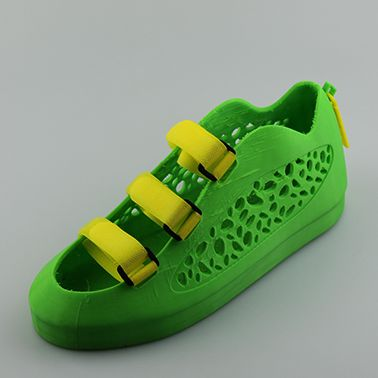 The latest 3D printed shoes come from a designer named Michele Badia, of MyMiniFactory. He designed some very attractive looking velcro shoes, called the 'Leopard shoes'. They can be download for free and printed on your own 3D printer using NinjaFlex filament, or purchased directly from MyMiniFactory, for only $49.00.