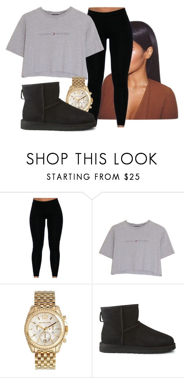 """tommy"" by gvlden-bvbx ❤ liked on Polyvore featuring Hilfiger, Michael Kors and UGG Australia"