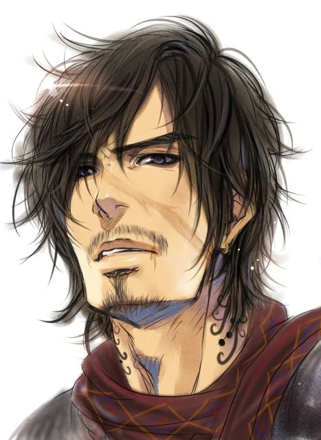 Anime Characters Male Black Hair : Anime man with beard google search faces