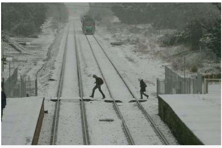 Woodend Victoria......station on a snowy day