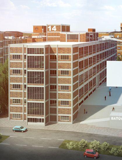 Vizualizace 14/15 Baťova Institutu ve Zlíně... Nově vznikající centrum kultury a vzdělanosti Zlínského kraje bude jedním z nejmodernějších kulturních komplexů ve Střední Evropě. Otevření je plánováno na květen 2013.