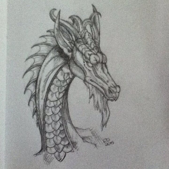 This is a drawing I copied from Pinterest. I love dragons!