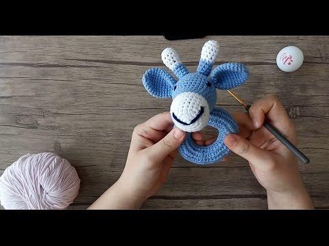 Amigurumi Örgü Çıngırak Ayı Yapımı 1 (Halka) Amigurumi Knitting Rattle Bear 1 (Ring) - YouTube