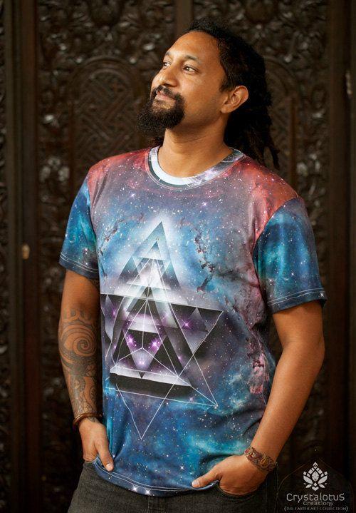 MERKASTAR  Men's cotton T-shirt // Mandala by CrystalotusCreations