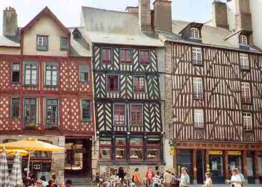 Rennes, Brittany, France Cool, small city with quirky looking buildings
