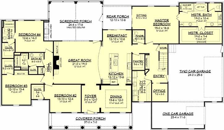 3194 Sq. Ft. 4 Bedrooms 3-1/2 Baths 1 Story 3 Garages Purchase Option Select Plan Package PDF (recommended)$1045 Foundation Options What's included?CrawlspaceStandard With Plan Exclusive Options 3-D Intelligent House Plan ® with Material List Other Options Optional Add-Ons SUBTOTAL$1045 BUY NOW Additional time may be required for optional foundation design. Ask The Architect About This Plan Other House Plans By This Designer Find Out About 3-D Modeling If your fo